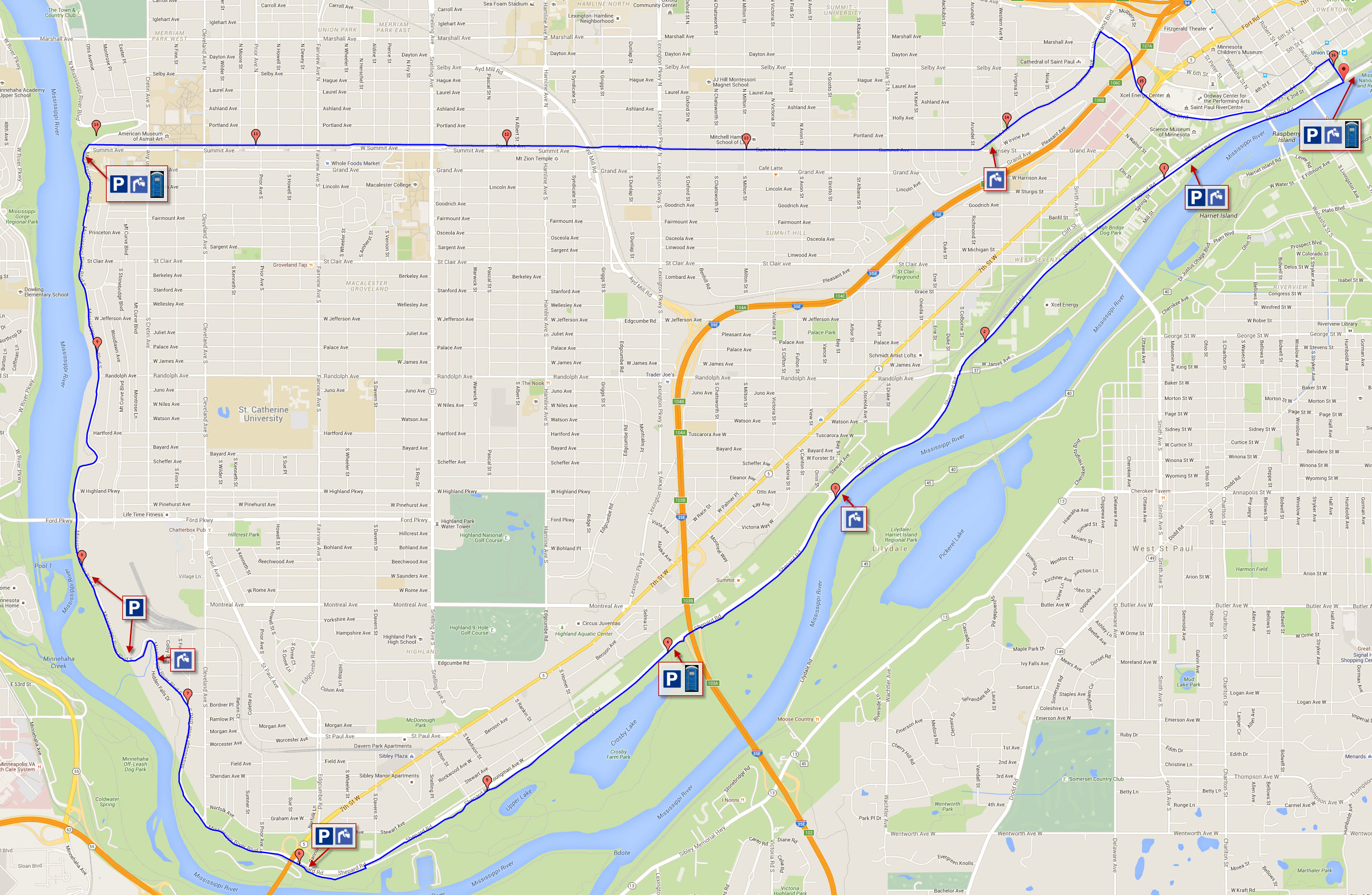 Picture of: St Paul Mississippi River Loop Running St Paul